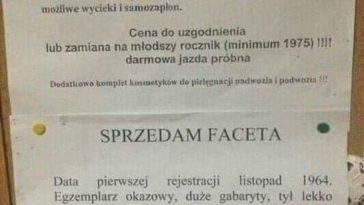 Oferta sprzedaży kobiety i faceta, Luknij.net - Śmieszne memy, zabawne obrazki, kawały, suchary